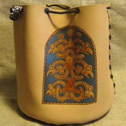 "Rune bag ""Beast of prey"" (color blue)"
